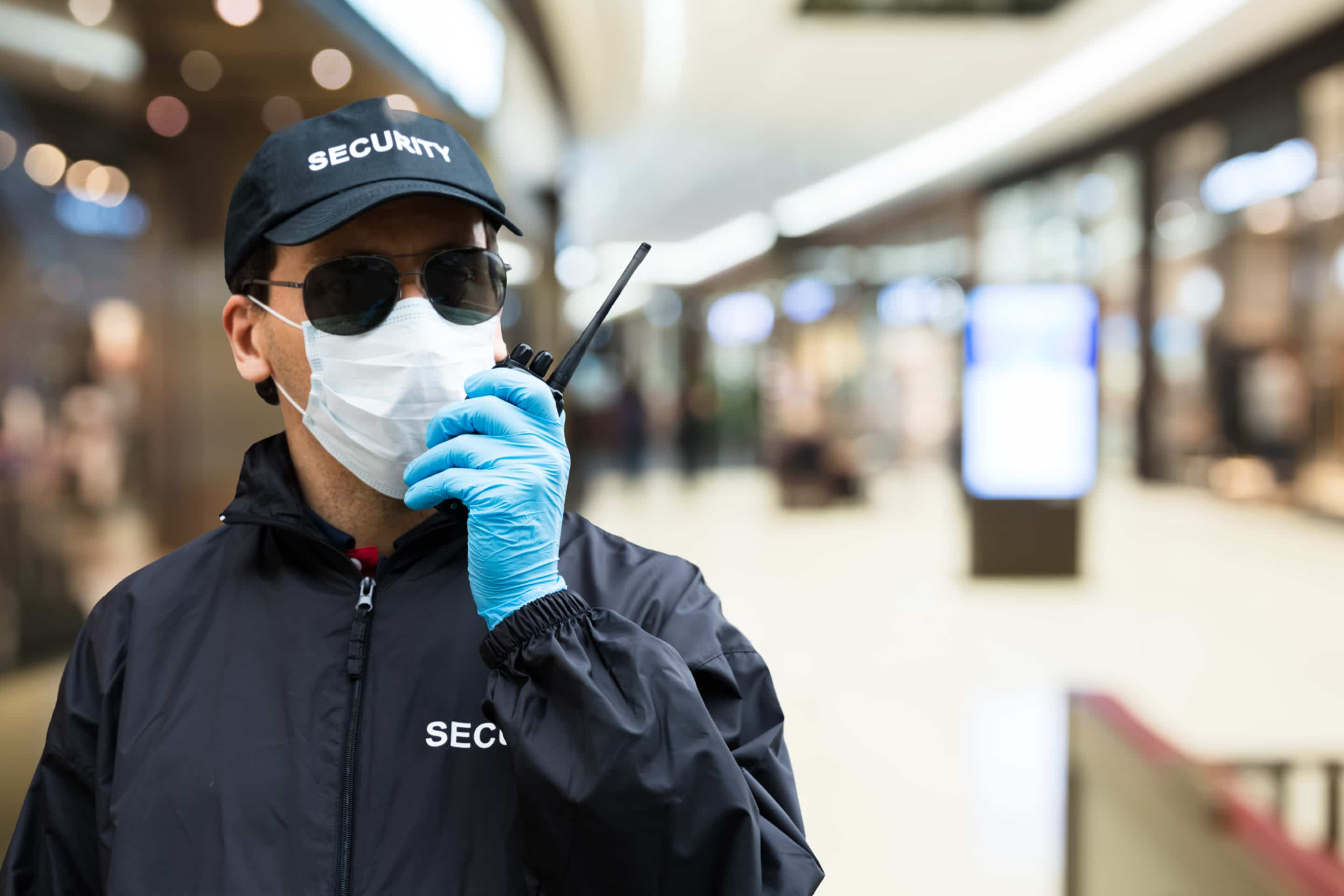 security guard in mask