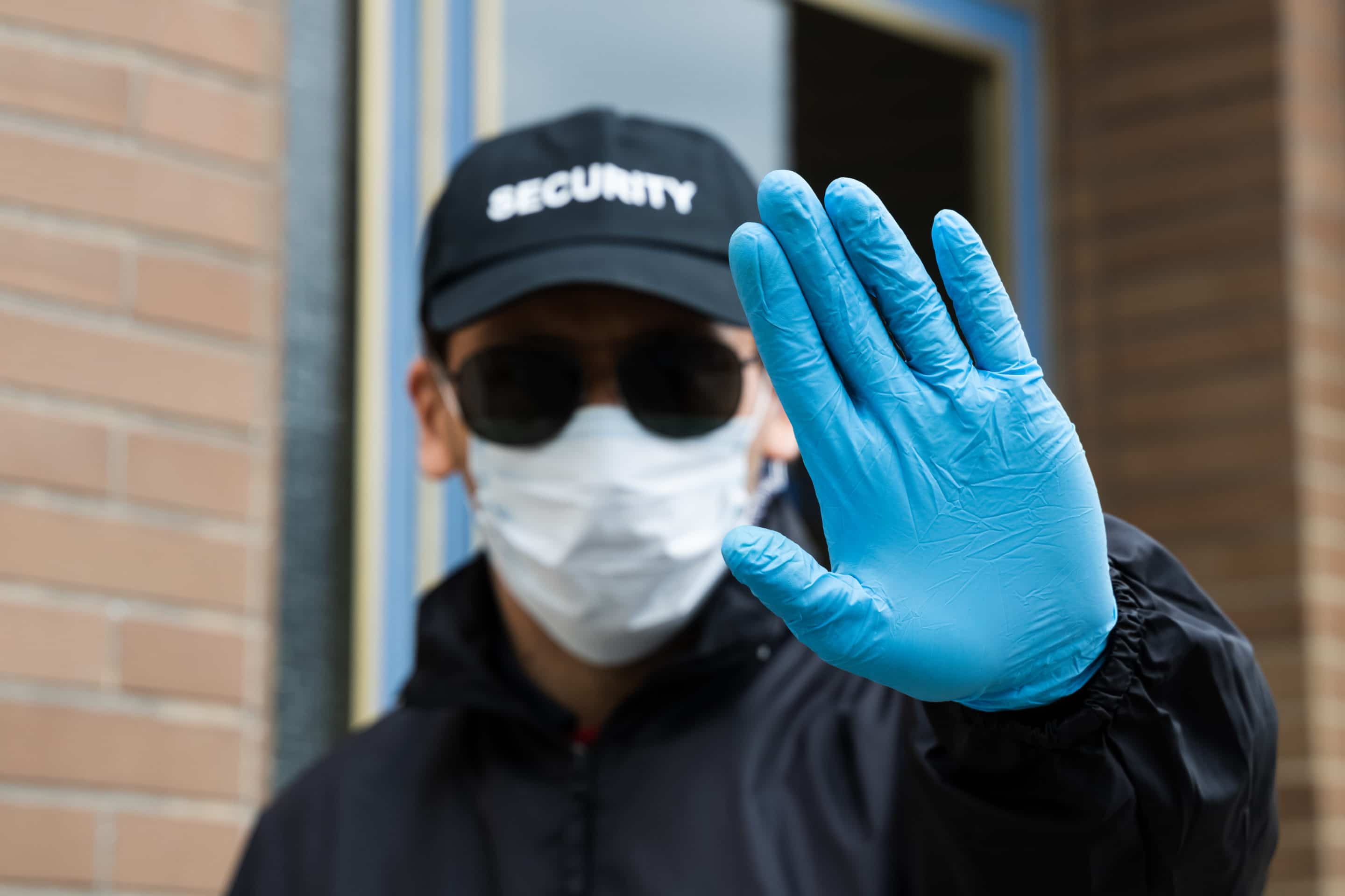 security guard wearing mask